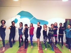 Class photo - my last Tuesday night class at Flow Yoga Bristol